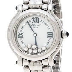 Chopard White Stainless Steel and Diamonds Happy Sport 8236 Women's Wristwatch 3
