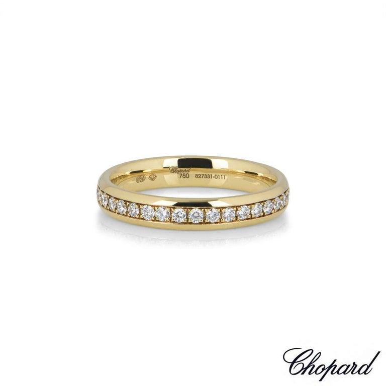 Round Cut Chopard Yellow Gold Diamond Eternity Band For Sale