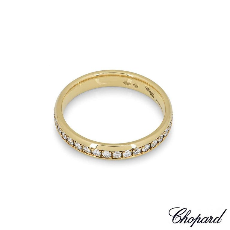 Chopard Yellow Gold Diamond Eternity Band In Excellent Condition For Sale In London, GB