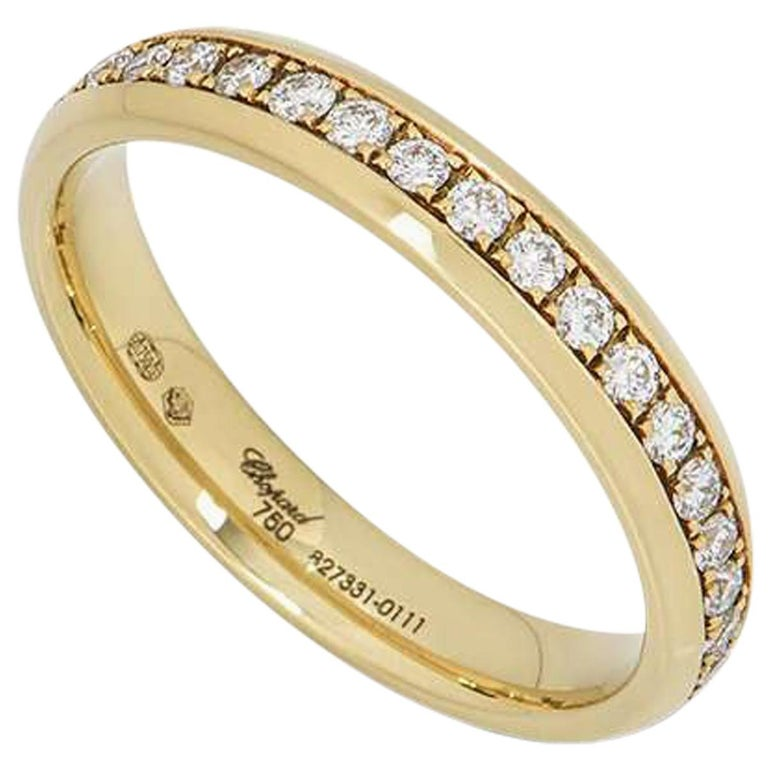 Chopard Yellow Gold Diamond Eternity Band For Sale
