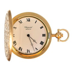 Chopard yellow Gold engraved Pocket Watch
