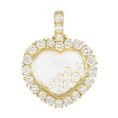 Chopard Yellow Gold Happy Diamonds Heart Pendant