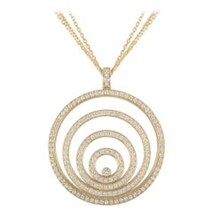Chopard Yellow Gold Happy Spirit Diamond Pendant 79/5430/0-2