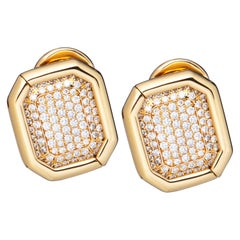 Chopard Yellow Gold Pave Diamond Earrings 84/6014
