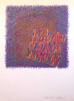 Small Clocks, Timepieces, Mixed Media Acrylic Abstract Bright Vibrant Painting