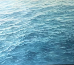"""""""Study for Styria""""   Small waterscape of a blue ocean with waves"""