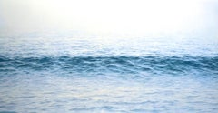 """Traverse, Highly Realistic Large Water (Ocean) Painting in Blue and White"""