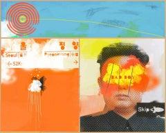 Bye Bye Kim - Colourful POP Art: Collage/Acrylic, Limited Edition Digital Print