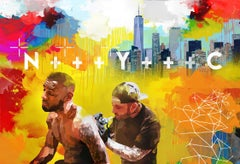 NYC - Colourful Graphic/POP Art: Collage/Acrylic (Limited Edition Digital Print)