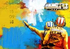 Runway - Colourful Graphic/POP Art: Collage/Acrylic as a Ltd Ed Digital Print