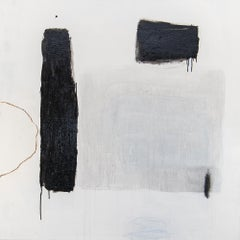 Passage by Chris Brandell, Large Contemporary Minimalist Painting With White