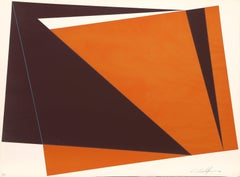 Orange Rectangles, Geometric Abstract by Cristofaro