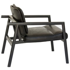 Chris Earl Ebonized Oak, Black Leather Moresby Armchair