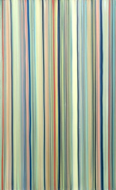 Train, Abstract Stripe painting