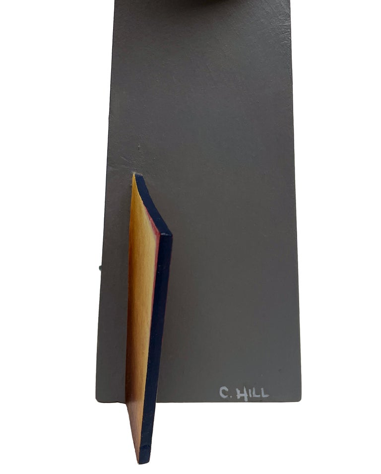 Nightfall Dreams - Abstract Geometric Form, Hand Painted Welded Steel Sculpture  For Sale 5