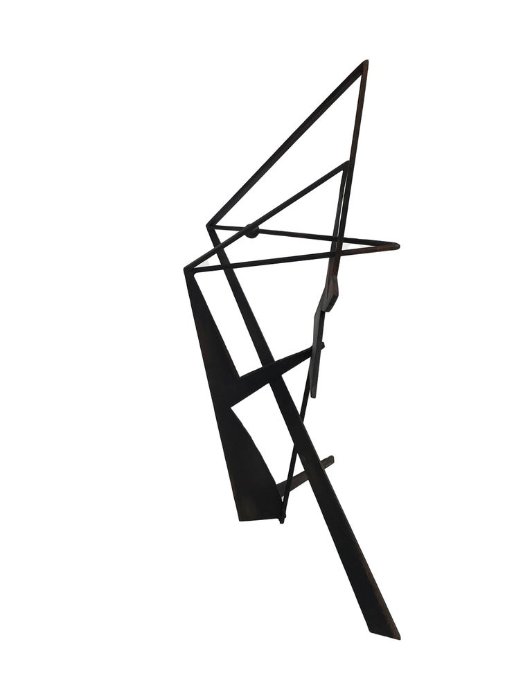 The Shortest Distance - Abstract Geometric Form, Welded Steel Sculpture  For Sale 4