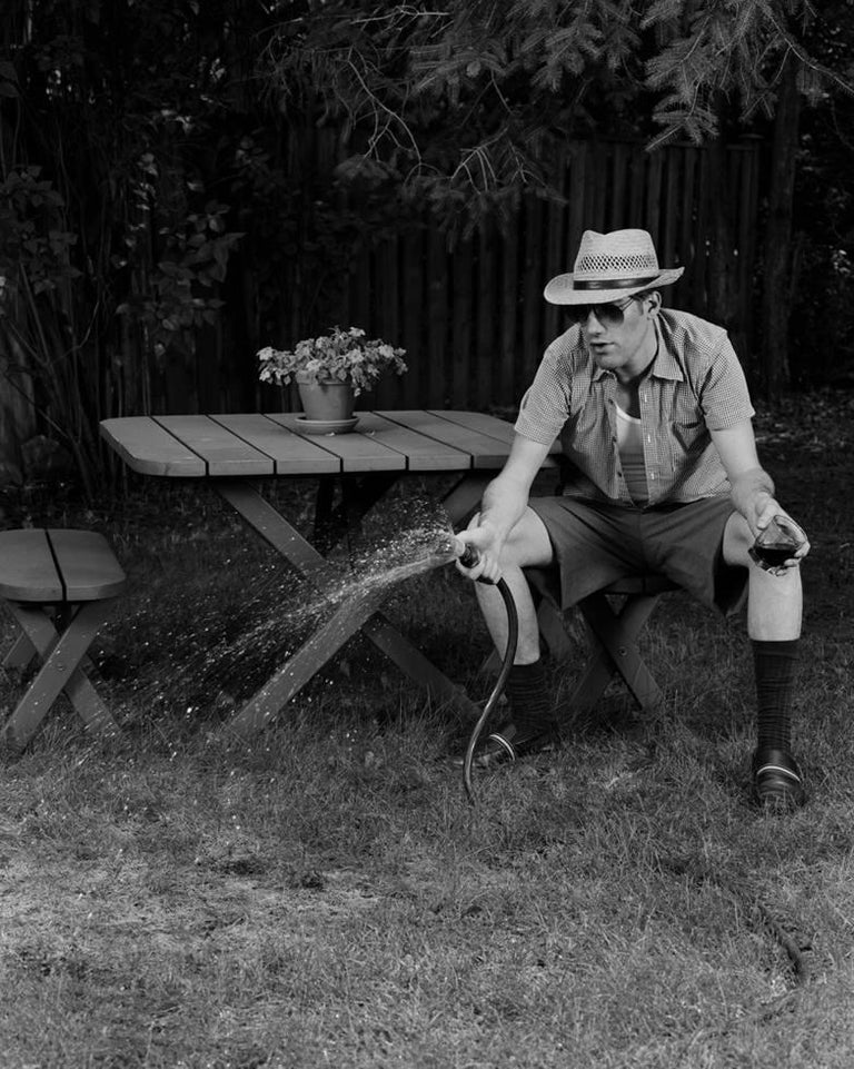 Chris Ironside Black and White Photograph - Mr. Long Weekend #05