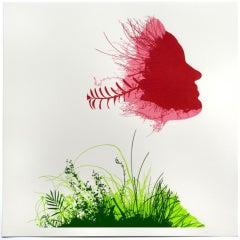 Chris Keegan, Floral Mask, Contemporary Art, Affordable Art, Art Online