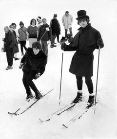 The Beatles Hit the Ski Slopes Fine Art Print