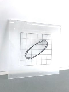 Chris Klapper and Patrick Gallagher, Metric Space (Plexi Code drawing 2), 2018