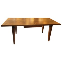 Chris Lehrecke Walnut Two Plank Dining Table Writing Desk for Ralph Pucci