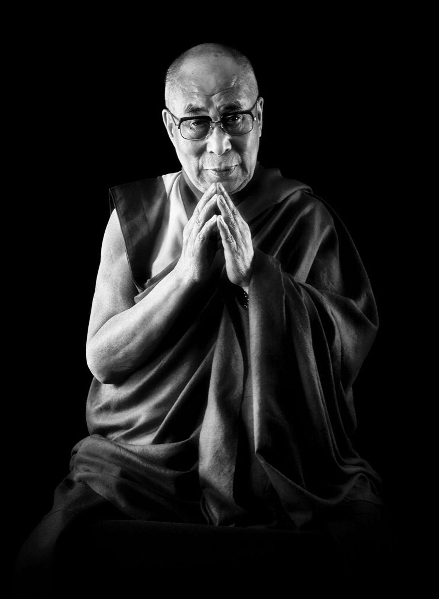 Chris Levine, Compassion (Dalai Lama), Photographic Art, Celebrity Art, Zen Art