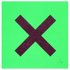Marks the spot, Screen Print, Abstract, Contemporary Art by Chris Levine