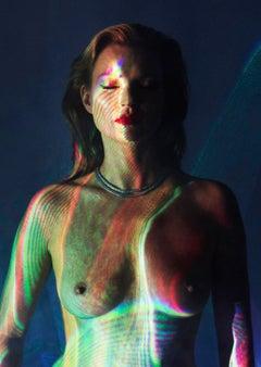 She's Light (Laser 2), Chris Levine, Kate Moss Print, Celebrity Art, Light Art