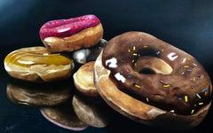 Sweet Donuts painting still life original painting Contemporary Art 21st Century