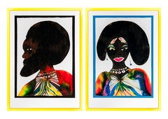 "Chris Ofili - ""Afromuse Couple"""
