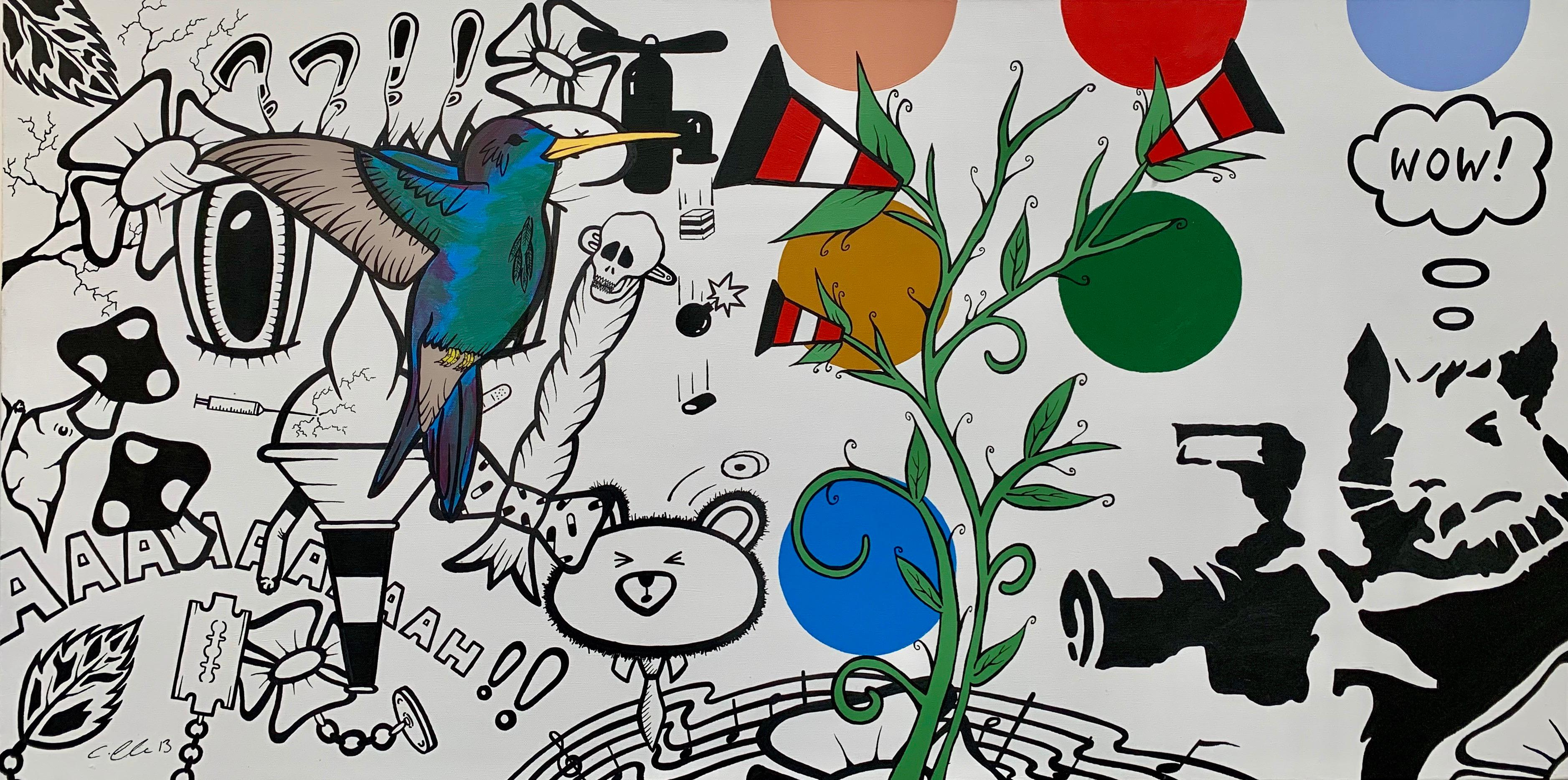 Urban Graffiti Cartoon Manga Pop Art by British Street Artist Chris Pegg