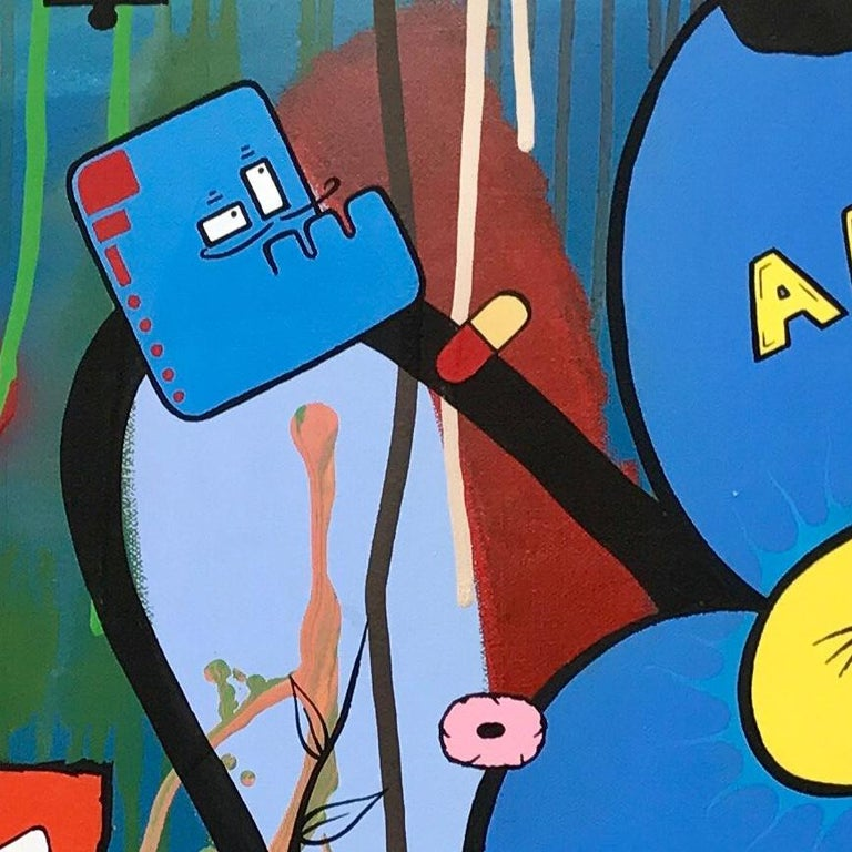 Social Comment Urban Graffiti Manga Art by British Street Artist Chris Pegg - Pop Art Mixed Media Art by Chris Pegg
