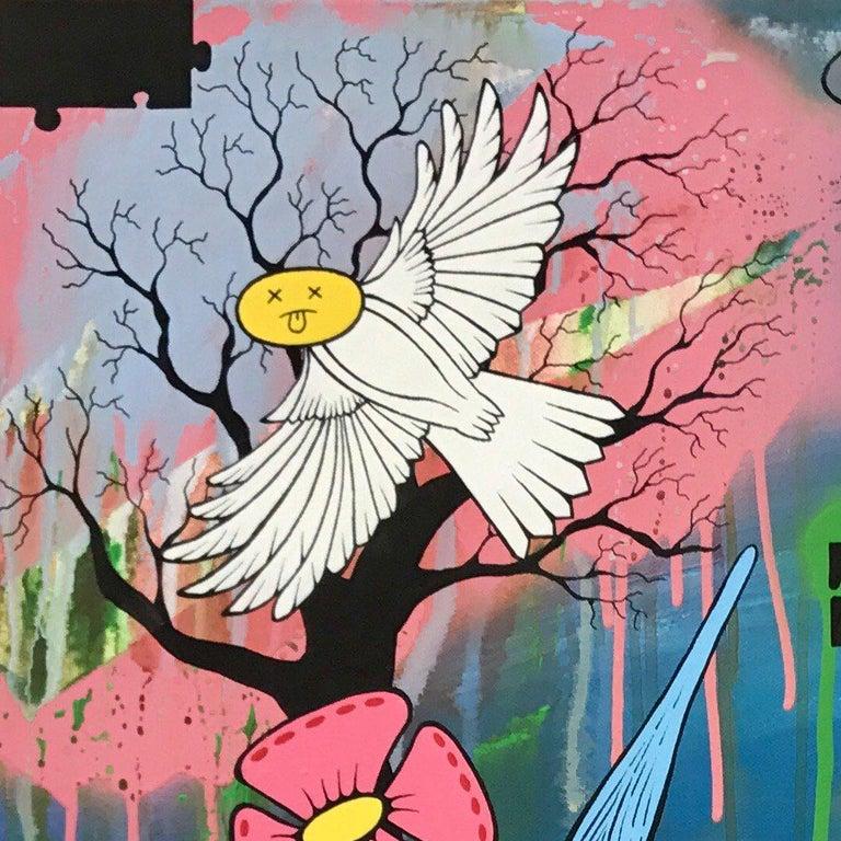 Social Comment Urban Graffiti Manga Art by British Street Artist Chris Pegg For Sale 1