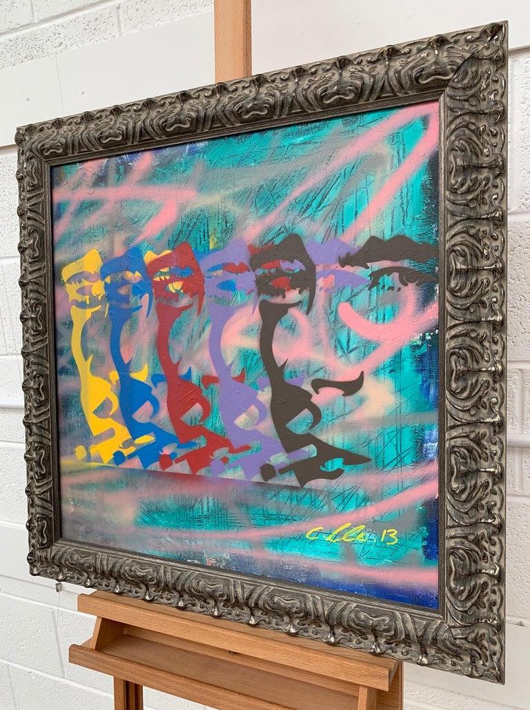 James Dean Smoking Cigarette Portrait Pop Art by British Urban Graffiti Artist For Sale 1
