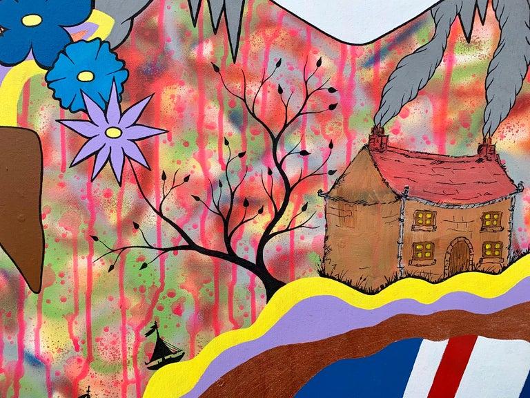 McFuture Colourful Manga Cartoon Pop Art by Young British Urban Graffiti Artist For Sale 2