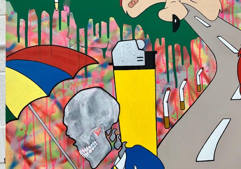 McFuture Colourful Manga Cartoon Pop Art by Young British Urban Graffiti Artist For Sale 4