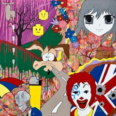 McFuture Colourful Manga Cartoon Pop Art by Young British Urban Graffiti Artist