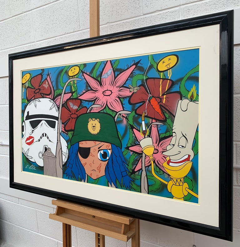 The Good The Bad & The Ugly Pop Art by British Urban Graffiti Artist, Chris Pegg.  Art measures 42 x 24 inches  Chris Pegg is a self-taught Street Artist producing artwork with a strong social commentary.  His work is inspired by artists such as Mr