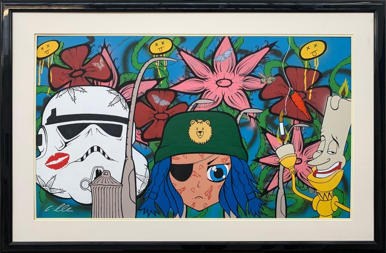 Chris Pegg Figurative Painting - The Good The Bad & The Ugly Pop Art by British Urban Graffiti Artist