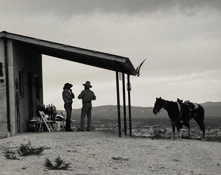 Chris Regas Black and White Photograph - Terlingua conference