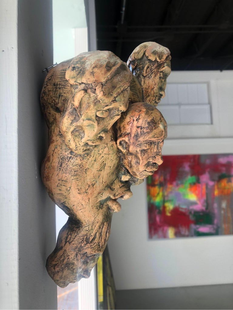 Expressionist Wall Sculpture by Chris Riccardo For Sale 9