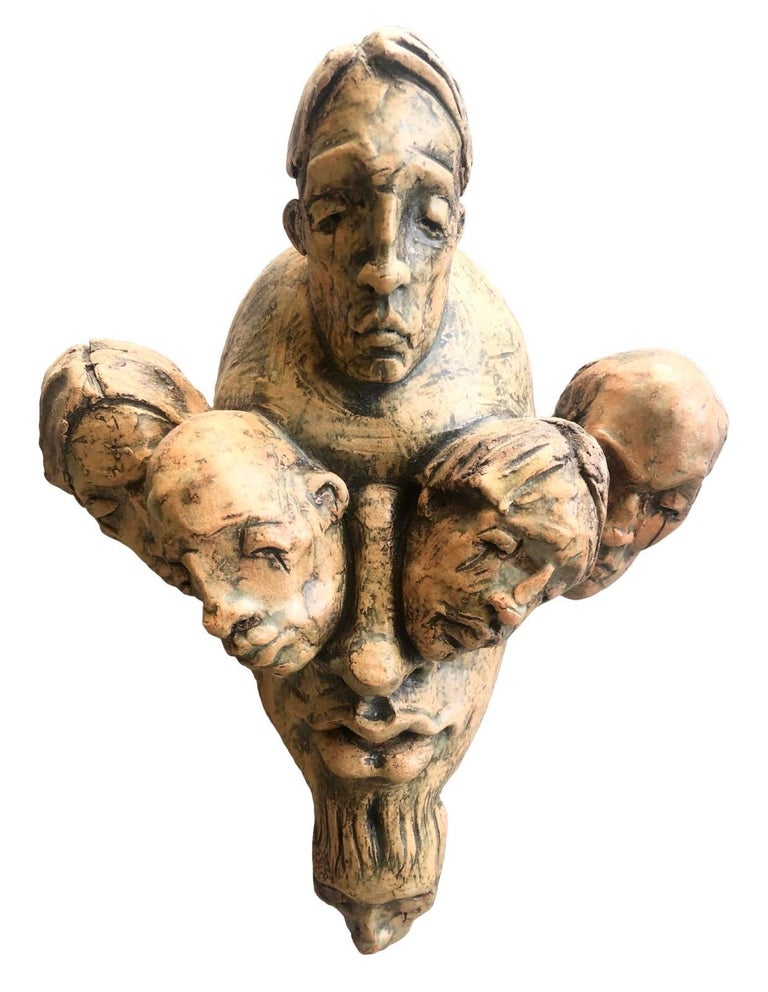 Expressionist Wall Sculpture by Chris Riccardo For Sale 10