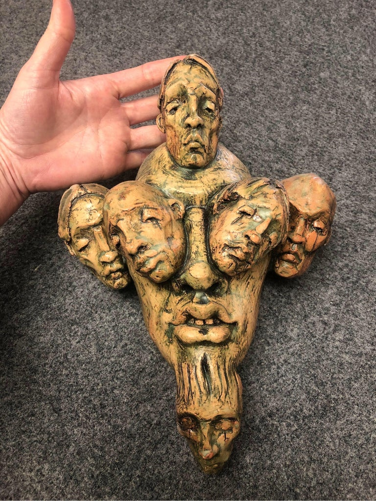 Expressionist Wall Sculpture by Chris Riccardo For Sale 1