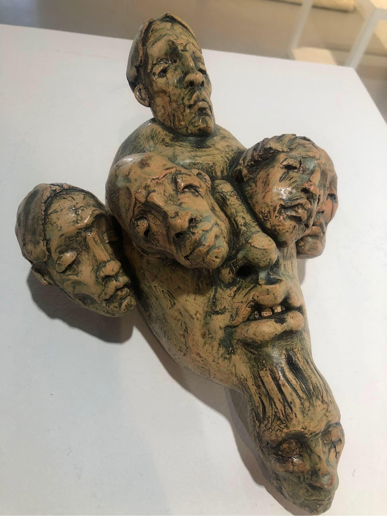 Expressionist Wall Sculpture by Chris Riccardo For Sale 4