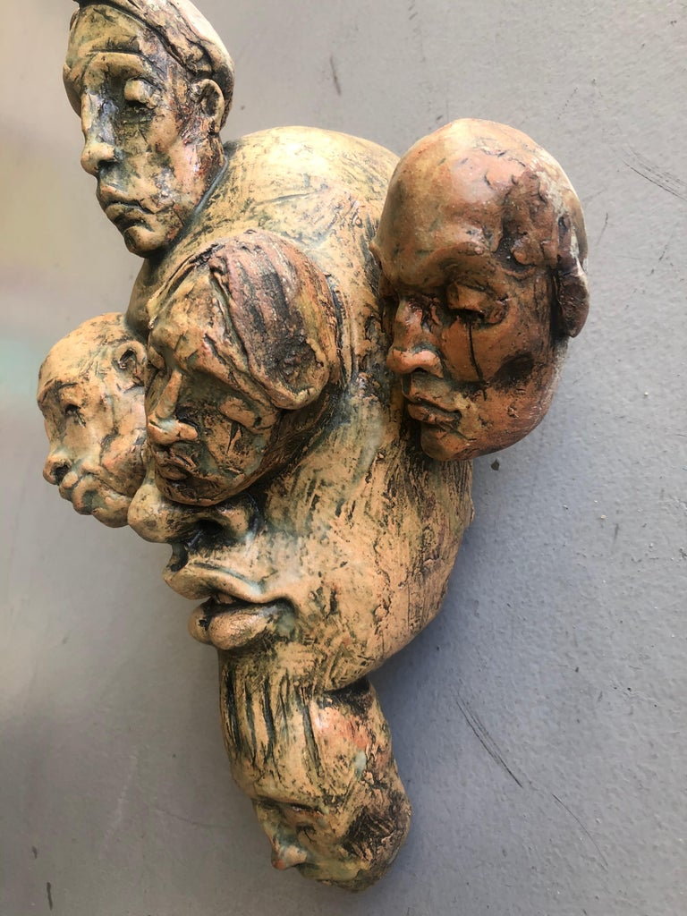 Expressionist Wall Sculpture by Chris Riccardo For Sale 5