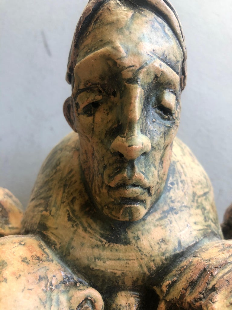 Expressionist Wall Sculpture by Chris Riccardo For Sale 8