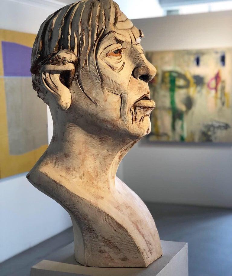 Large Terracotta Sculpture Titled: Albert For Sale 6