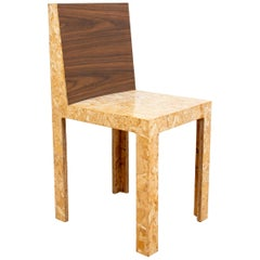 Chris Rucker Contemporary Faux Wood Side Chair