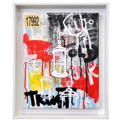 Chris RWK Mixed-Media Painting on Canvas, Take This to Heart, 2014