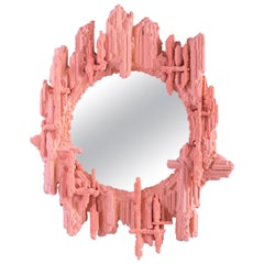 Chris Schanck, Blush, Wall Mirror, Coral, Pink